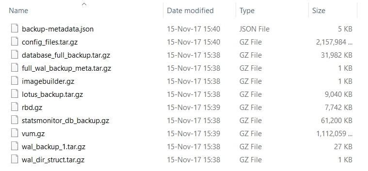 Liste fichiers FTP