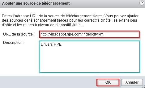 Ajouter une source telechargement VMware Update Manager