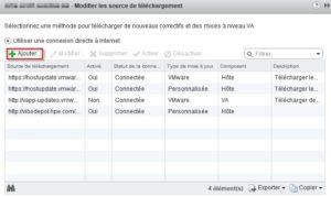 Sources de telchargement VMware Update Manager
